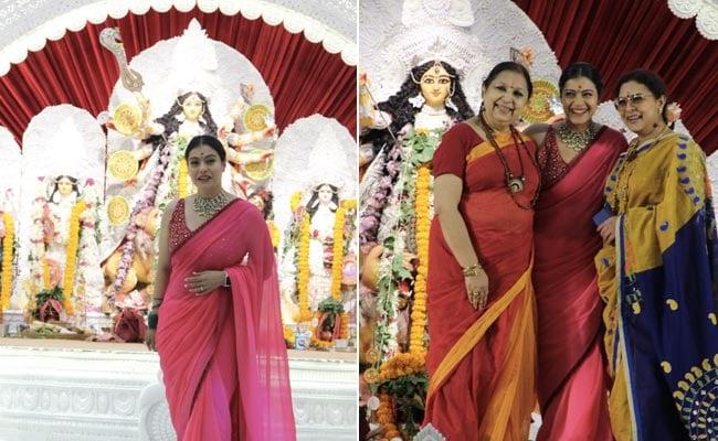 Durga Puja 2021: Kajol Celebrates Saptami With Cousin Sharbani Mukherjee And Family. See Pics