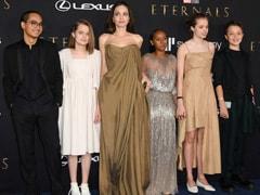 Zahara Jolie-Pitt Looks Lovely As She Borrows Mom Angelina Jolie's Sparkling 2014 Oscars Gown