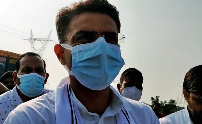 Sachin Pilot Detained On Way To Meet Families Of Farmers Run Over In UP