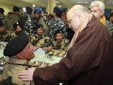 Video : Amit Shah Spends Night At CRPF Camp In Pulwama, Site Of 2019 Terror Attack