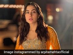 Sara Ali Khan In A Glorious Orange <i>Sharara</i> Screams Festive Days