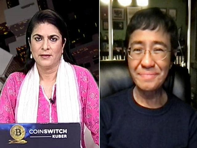"""Video : """"Journalists Trying To Keep Power In Check"""": Nobel Peace Prize Winner Maria Ressa To NDTV"""