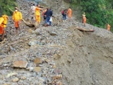 Video : Stranded Tourists In Nainital Trek To Safety As Landslides Block Roads