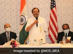 Union Minister V Muraleedharan Meets Indian Community In US' Connecticut
