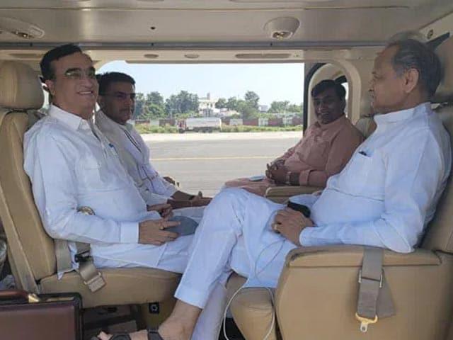 Video : Ashok Gehlot, Sachin Pilot Inside a Chopper. Congress Unity Photo Op?