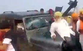 यूपी में प्रदर्शन कर रहे किसानों को रौंदने वाली SUV में सवार शख्स समेत 4 लोग गिरफ्तार