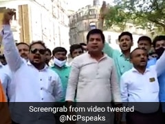 NCP Youth Wing Protests Against Ex-BJP MP Kirit Somaiya In Mumbai