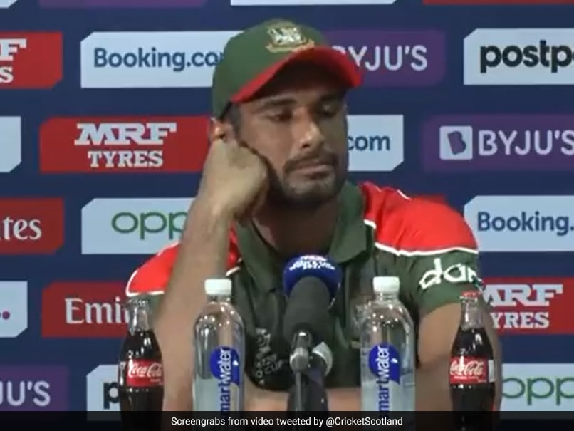 Watch: Why Bangladesh Captain Mahmudullah Was Forced To Pause Post-Match Press Meet