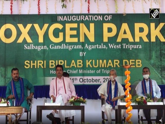Video : Tripura Chief Minister Inaugurates Oxygen Park In Agartala