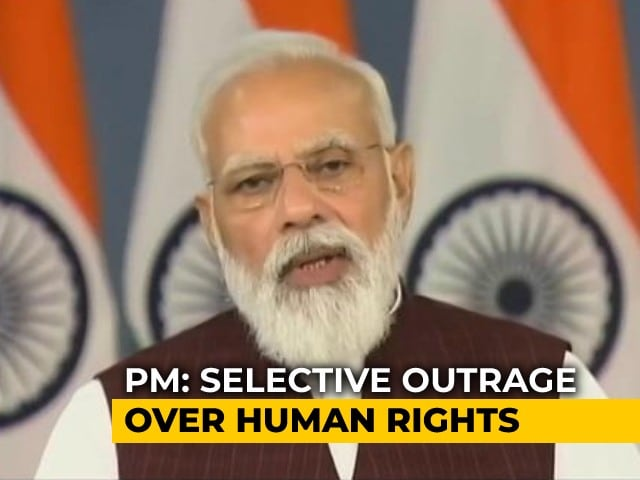 """Video : PM Slams """"Some People's Selective Approach To Human Rights"""""""