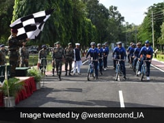 Army Flags Off Cycling Expedition To Visit J&K, Himachal's Border Villages