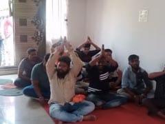 """Watch: Right-Wing Activists Sing Bhajans At Karnataka Church As """"Protest"""""""