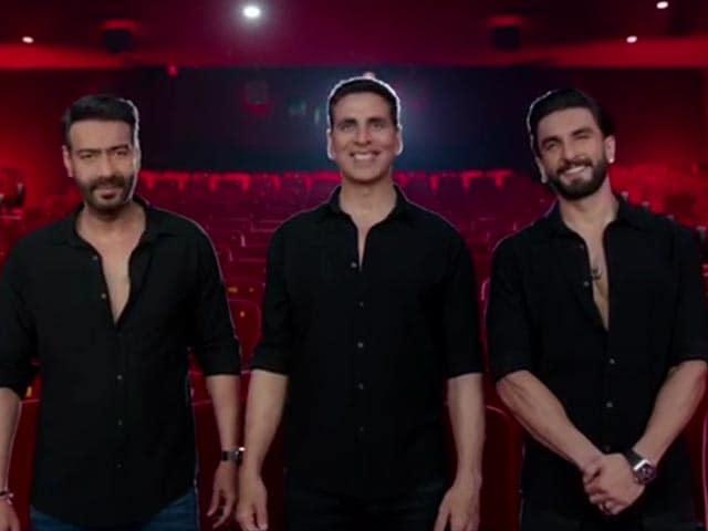 Video : Akshay, Ajay, Ranveer & Diljit Dosanjh Invite You Back To The Cinemas