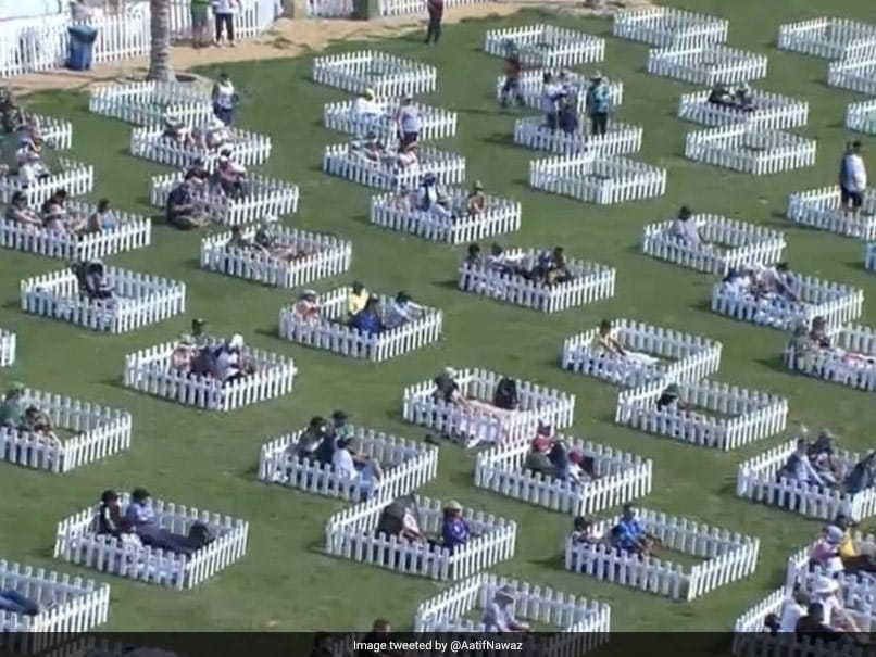 """Watch: Spectators See T20 WC Match From """"Socially Distanced Family Pods"""""""