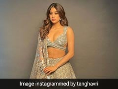 Janhvi Kapoor Shines Brighter Than A Diamond In A Gorgeous Sequinned Silver Lehenga