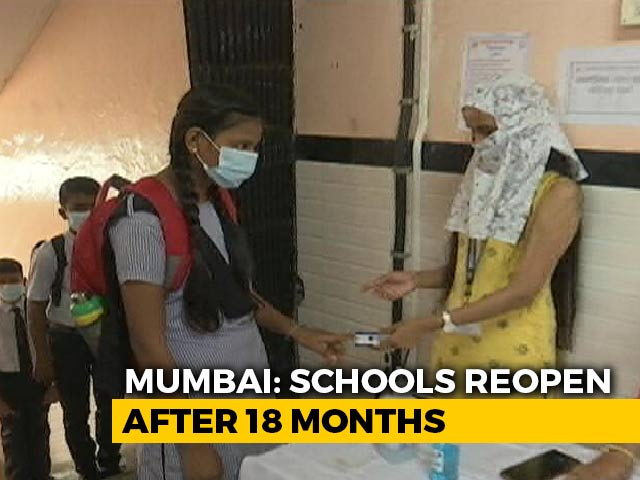 Video : Maharashtra Schools Reopen After 18 Months Of Being Shut Over Covid