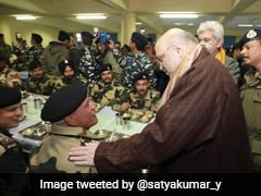 Amit Shah Spends Night At CRPF Camp In Pulwama, Site Of 2019 Terror Attack