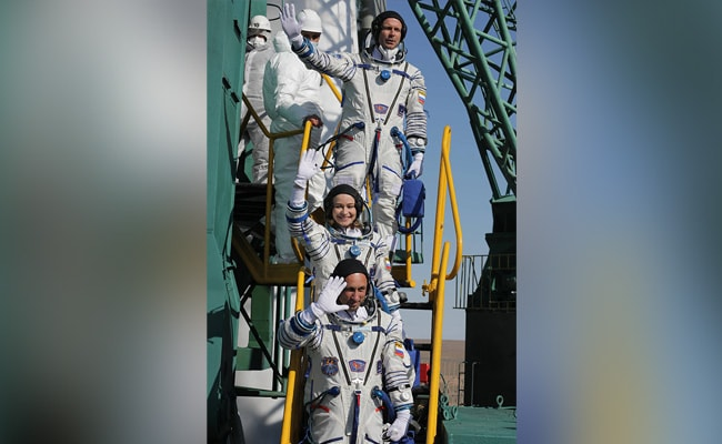 Russian Film Crew Docks At International Space Station For First Movie In Orbit