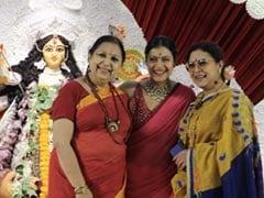 Durga Puja 2021: Kajol Celebrates <I>Saptami</i> With Cousin Sharbani Mukherjee And Family. See Pics