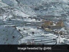 Himachal Pradesh's Lahaul-Spiti District Receives Fresh Snowfall