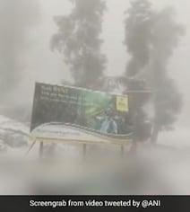 Fresh Snowfall In Parts Of Kashmir, Ladakh; Rainfall In Plains. See Pics