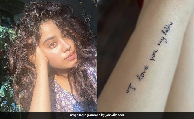 Janhvi Kapoor Got A Tattoo Of A Handwritten Note By Mom Sridevi. We Love It