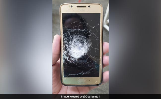 Saved By The Smartphone: Bullet Bounces Off Motorola With Hulk Cover