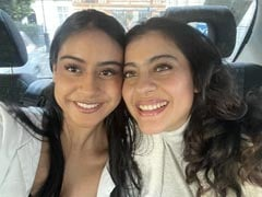 Just A Pic Of Kajol And Daughter Nysa, Twinning In White