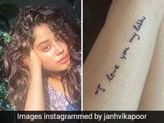 We Cannot Stop Talking About Janhvi Kapoor's Adorable Tattoo In Sridevi's Handwriting