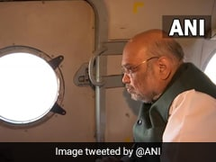 Amit Shah Conducts Aerial Survey Of Rain-Ravaged Uttarakhand As Rescue Ops Continue