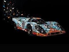 This Porsche 917 Race Car Artwork Is Made Out Of 1,000 Paper Butterflies