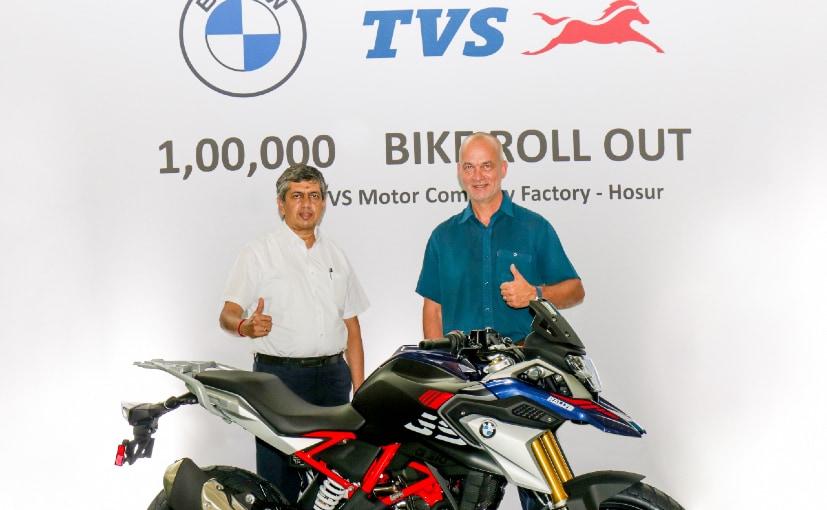 KN Radhakrishnan, Director & CEO, TVS and Rainer Baumel, Head of Products, BMW Motorrad