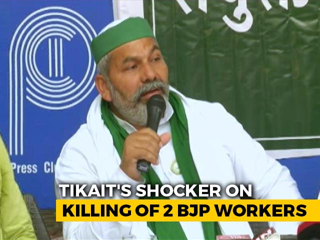 """Video : """"Reaction To Action"""": Farm Leader's Shocker On BJP Workers' Deaths In UP"""