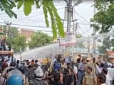 Video : Water Cannons Used As Farmers Protest At Haryana Chief Minister's House