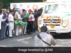 "Amit Shah Inaugurates ""Modi Vans"" For UP's Kaushambi"