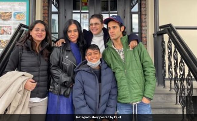 Pics From Kajol's Fam-Jam With Son Yug, Sister-In-Law Neelam And Nephew Aman Gandhi In Moscow