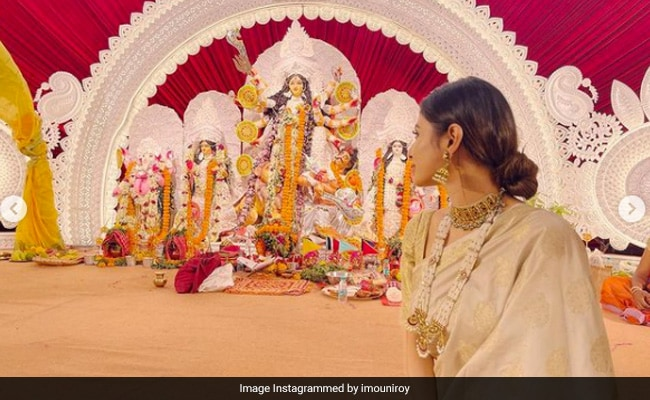 Durga Puja 2021: Pics From Mouni Roy's Celebrations Away From Home