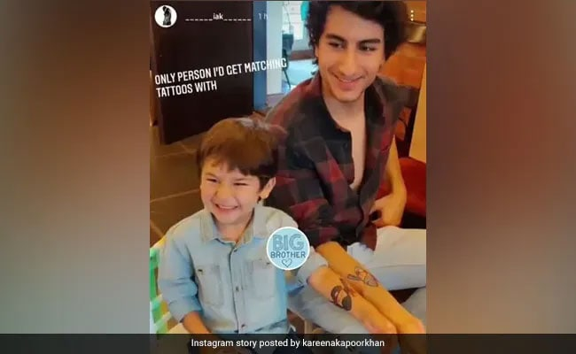 'Brothers In Arms': Taimur And Ibrahim Twinning And Winning In Matching Tattoos
