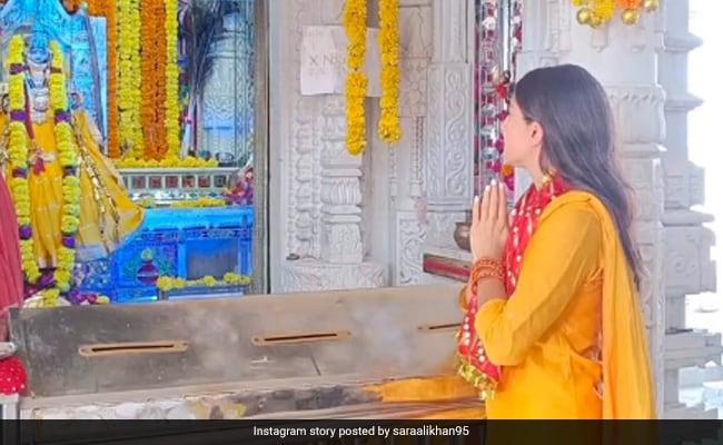 Navratri 2021: Sara Ali Khan Offers Prayers At Udaipur's Karni Mata Temple