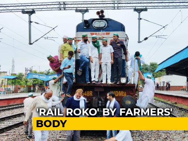 Video : Trains Hit In <i>Rail Roko</i> Protest Against Minister Over Farmers' Killing
