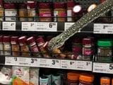 Video : 10-Foot Snake Slithers Out Of Supermarket Shelf
