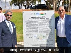 S Jaishankar Unveils Plaque In Memory Of Indian Soldiers In Israel