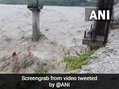 Watch: Underconstruction Bridge Washes Away Amid Floods In Uttarakhand
