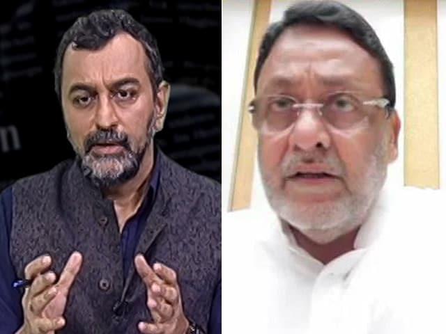"Video : Anti-Drugs Agency ""Hiding"" Behind Son-In-Law's Case: Nawab Malik Hits Back"