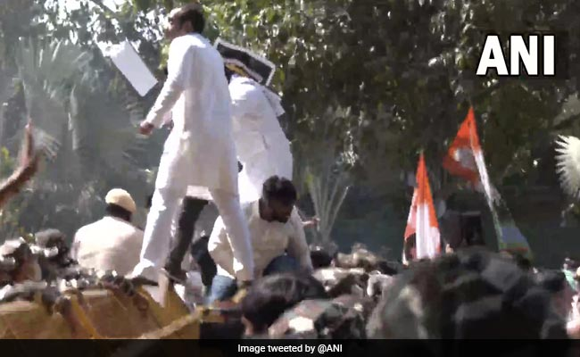 Youth Congress Workers Protest In Delhi, Demand Arrest Of Minister's Son