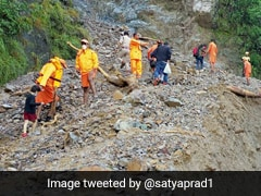Watch: Stranded Tourists In Nainital Trek To Safety As Landslides Block Roads