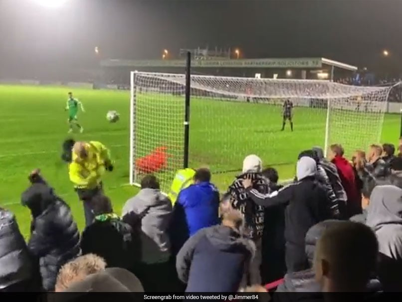 Watch: Steward Gets Smacked In The Face By Wayward Penalty In FA Cup Game