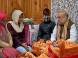 Video : Amit Shah Meets Family Of J&K Police Officer Killed By Terrorists