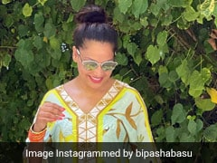 Bipasha Basu's Stylish Kaftan Diaries Continue In Maldives With A Touch Of Green