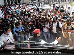 """BJP Crushed Farmers, All Set To Crush Constitution"": Akhilesh Yadav"